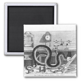 Fable of the Snake and the Files Magnet