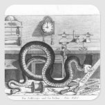 Fable of the Snake and the Files Square Sticker