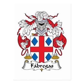 Fabregas Family Crest Postcard