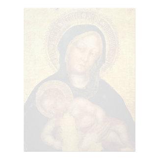 Fabriano- gentil Madonna, gentil Fabriano del niño Membrete
