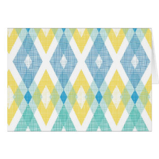 Fabric argyle pattern card