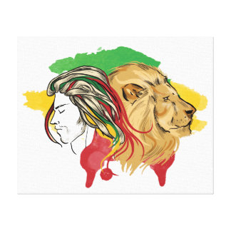"""Fabric """"Awakes the lion which dozes in you"""" GF Canvas Print"""