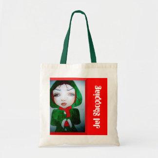 fabric bag Christma shopping