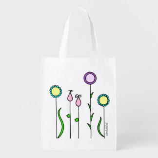 Fabric bag flower discount/Flowerbed Tote bag