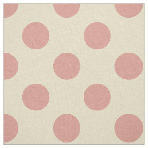 fabric beige light pink polka dots fabric zazzle. Black Bedroom Furniture Sets. Home Design Ideas