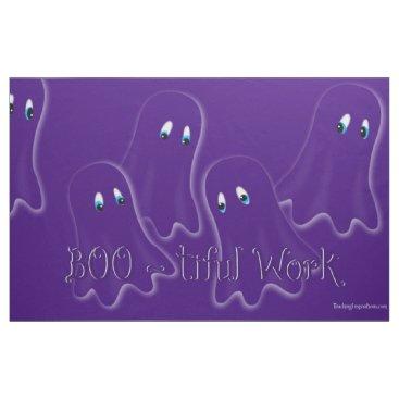 """Halloween Themed Fabric Bulletin Board """"Boo-tiful Work"""""""