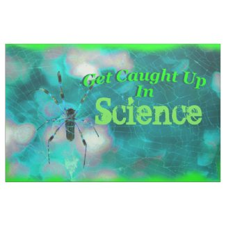 """Fabric Bulletin Board """"Get Caught Up In Science"""""""