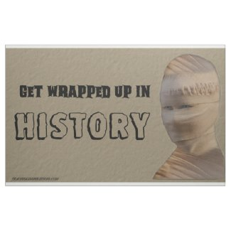 """Fabric Bulletin Board """"Get Wrapped Up In History"""""""