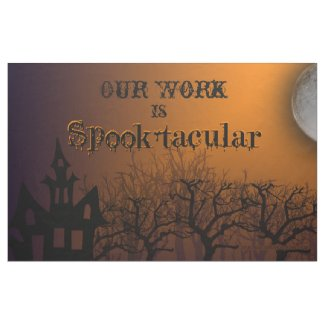"""Fabric Bulletin Board """"Our Work is Spook-tacular"""""""