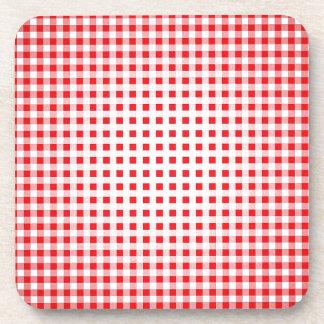 Fabric Checks modern design trend latest style fas Beverage Coaster