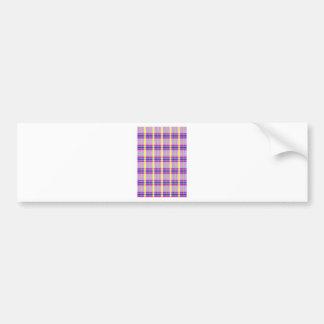 Fabric Checks modern design trend latest style fas Bumper Sticker