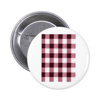 Fabric Checks modern design trend latest style fas Pinback Button