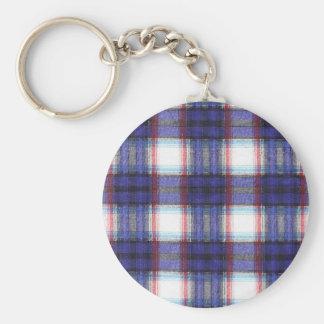 Fabric Checks modern design trend latest style fas Keychain