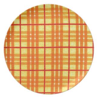 Fabric Checks modern design trend latest style fas Melamine Plate