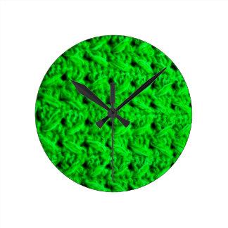 Fabric Checks modern design trend latest style fas Round Clock