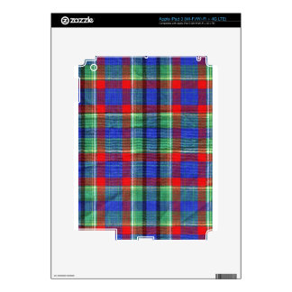 Fabric Checks modern design trend latest style fas Skin For iPad 3