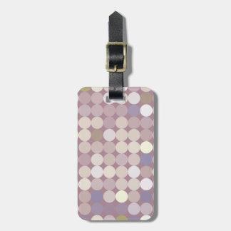 Fabric circles abstract pattern bag tag