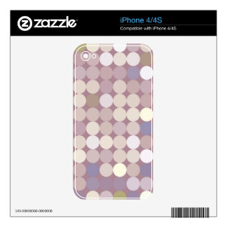 Fabric circles abstract pattern skins for iPhone 4S