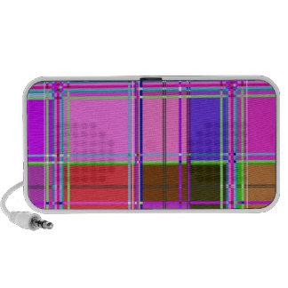 Fabric Cloth Colors Squares Travelling Speaker