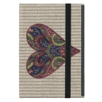 Fabric Collage Love Heart Case For iPad Mini