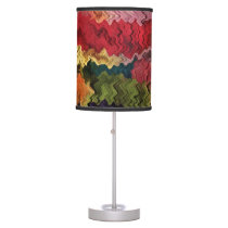 Fabric Colors Abstract Desk Lamp