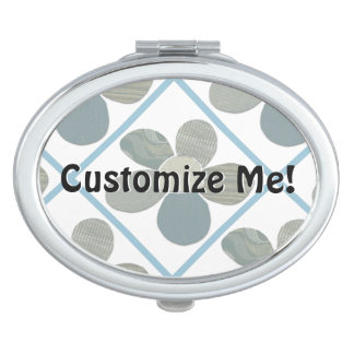 Fabric Cutout Flower Collage Travel Mirror