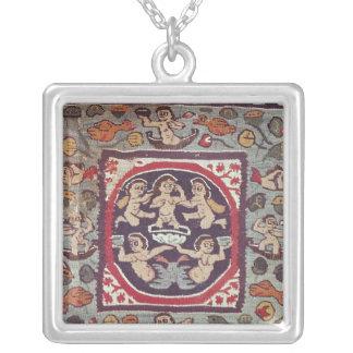 Fabric depicting Venus Anadyomene, from Antinoe Square Pendant Necklace