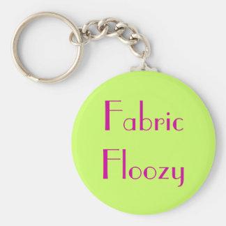 Fabric Floozy Basic Round Button Keychain