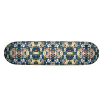 Fabric Floral Decorative Background Pattern Skateboard