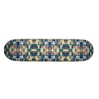 Fabric Floral Decorative Background Pattern Custom Skateboard