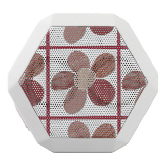Fabric Flower Collage Choose Background Color White Bluetooth Speaker
