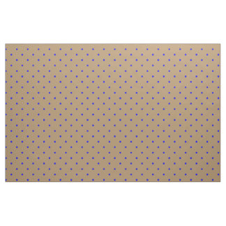 Fabric Gold with Royal Blue Dots