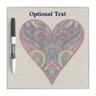 Fabric Heart Tapestry Collage Dry Erase Board