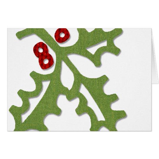 Fabric Holly Card