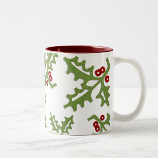 Fabric Holly Mug