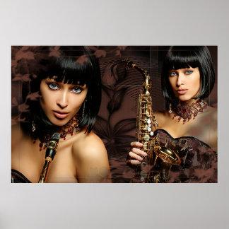 fabric Jazz Poster