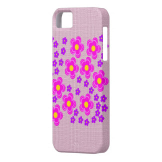 Fabric Look iphone case with flower pattern
