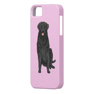 Fabric Look with labrador dog  iphone case