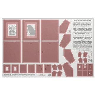 Fabric marsala color make photo frames 3 sizes