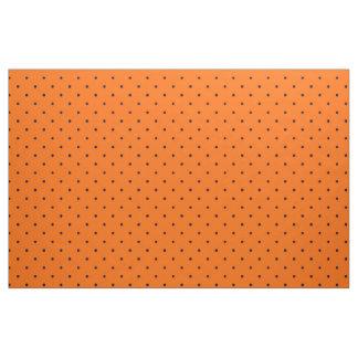 Fabric Orange with Dark Blue Dots
