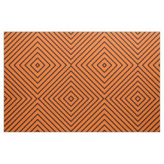 Fabric Orange with Dark Blue Stripes