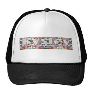 fabric pattern australia2 trucker hat