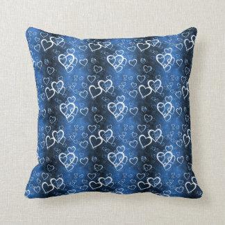 Fabric Pattern Hearts American Mojo Pillow