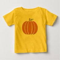 Fabric Pumpkin Baby T-Shirt