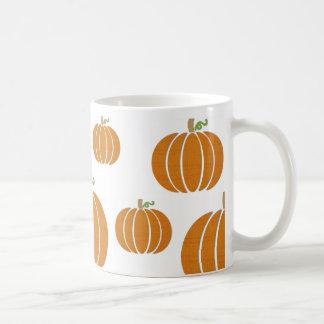 Fabric Pumpkins on a Mug