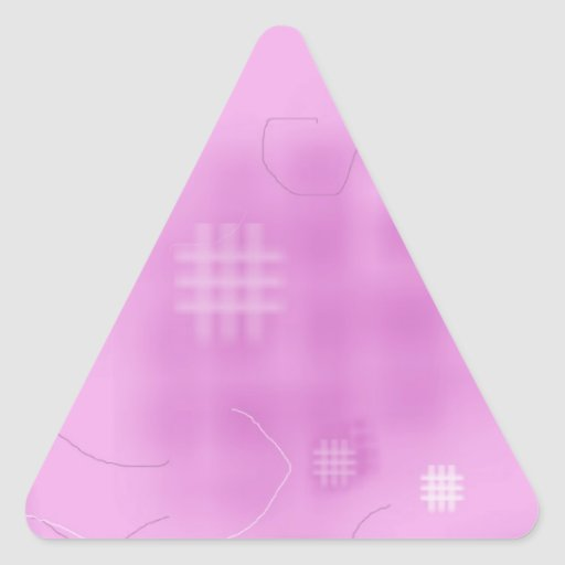 Fabric Quilting Sewing Design Art Triangle Stickers
