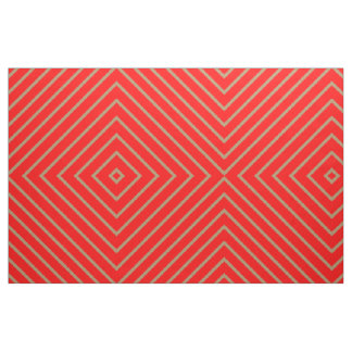 Fabric Red with Golden Stripes