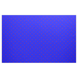 Fabric Royal Blue with Red Dots