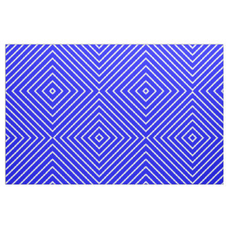 Fabric Royal Blue with White Stripes