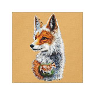 Fabric Russet-red Fox 30x30cm Canvas Print